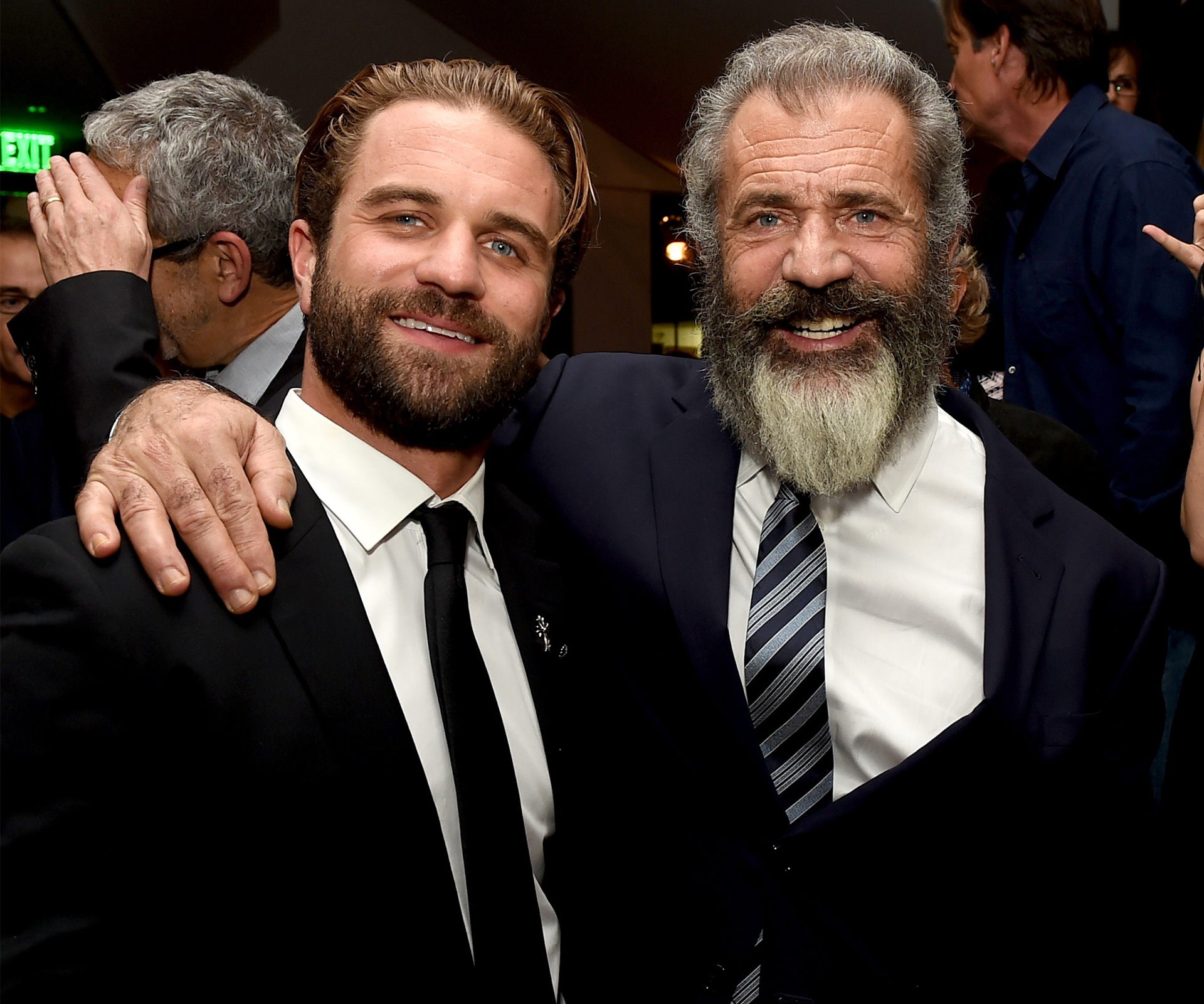 It's like looking into a mirror! Mel Gibson brought along his son Milo to the Hacksaw Ridge premiere, and the father-son duo couldn't have looked any close - literally! Milo is the star's fifth child with ex Robyn Denis Moore, with whom he has seven children. He also has a 6 year-old daughter and is expecting another child with girlfriend Rosalind Ross.