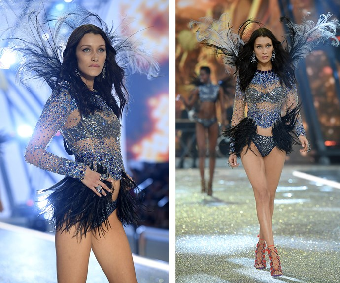 Victoria's Secret newcomer Bella Hadid is all sorts of sparkle!