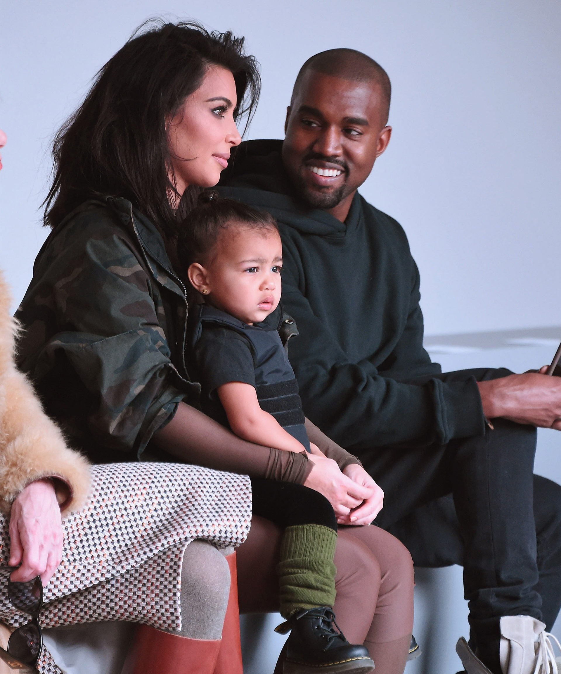 Kanye West returns home to Kim and the kids