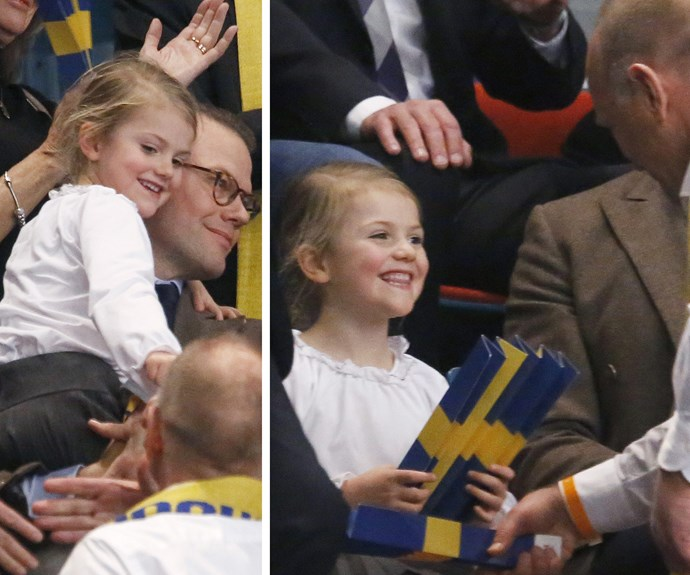 "Swedish newspaper *Expressen* revealed Sweden's second in line to the throne skipped the photos and ""ran away from Dad . . . and stood on the sidelines and yawned."""