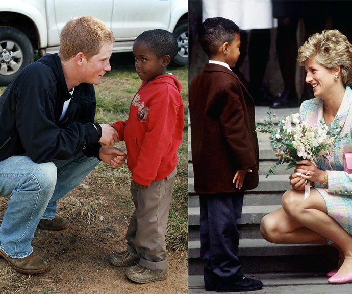 Prince Harry is carrying on the legacy of his mother's charity work.