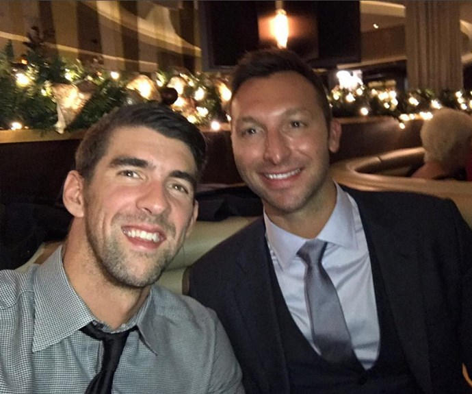 "Olympic swimmers Michael Phelps and Ian Thorpe this week joined forces to present awards at the BBC Sports Personality of the Year Awards. Sharing this selfie from the event, Ian wrote: ""So good to catch up with @m_phelps00 last night. It's been far too long!!"""