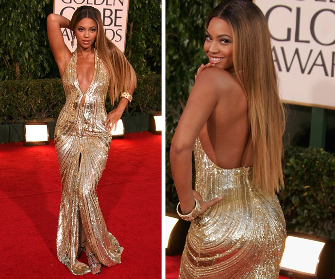 Queen Bey made sure all eyes were on her when she stepped out in this sparkling gold Elie Saab creation in 2007.