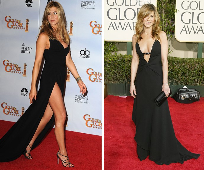You can't go wrong in a chic black gown, right Jennifer Aniston.