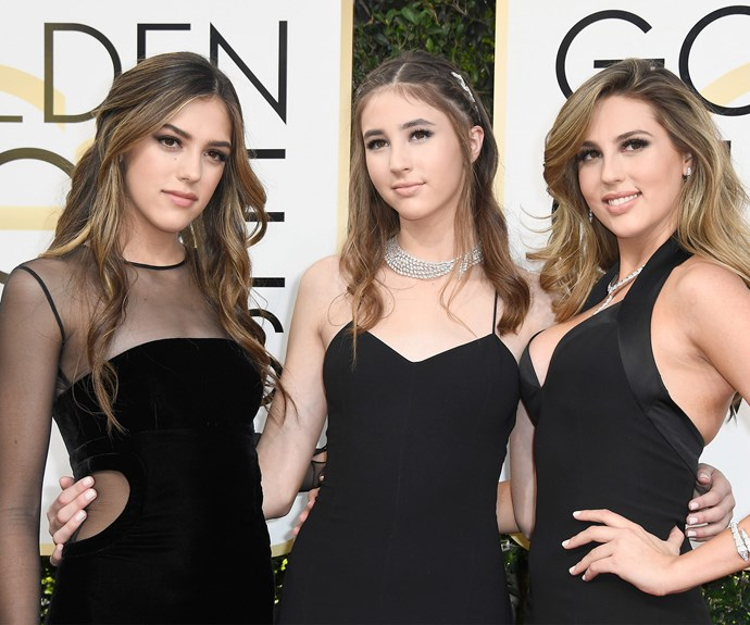 Sylvester Stallone's three darling girls, Sistine, 18, Scarlet, 14, and Sophia, 20, are this year's Miss Golden Globes girls! And the trio look fabulous.