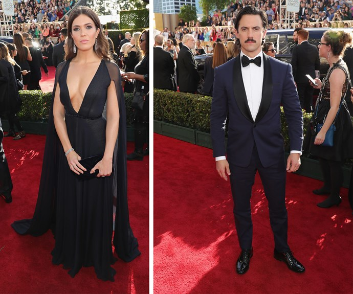 *This Is Us* stars Mandy Moore and Milo Ventimiglia have arrived!