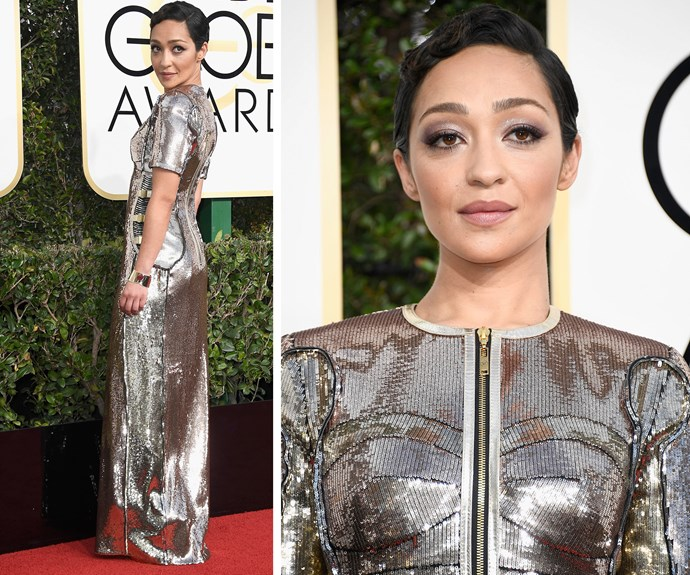 """Ruth Negga is up for the Best Actress in a Drama Motion Picture for *Loving*. The actress describes the nomination as """"joyful."""""""