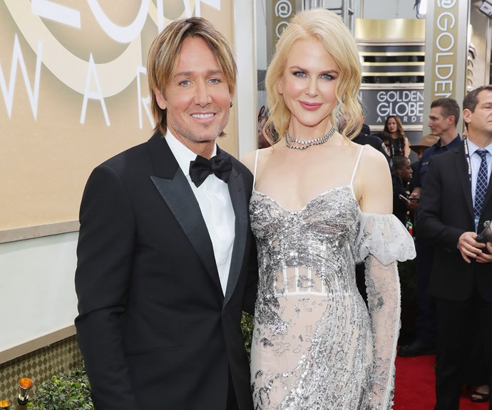 Picture-perfect! Nicole Kidman, who is joined by Keith Urban, is up for the Best Supporting Actress in a Motion Picture gong for her role in *Lion*.