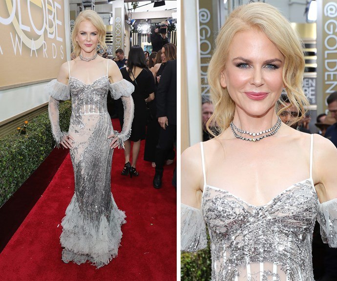 Nic opted for a breathtaking Alexander McQueen dress.