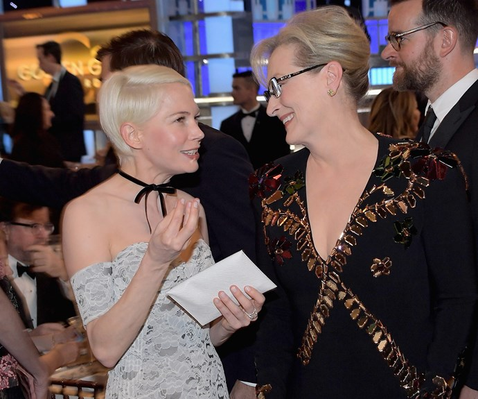 Screen greats Michelle Williams and Meryl Streep exchange tips.