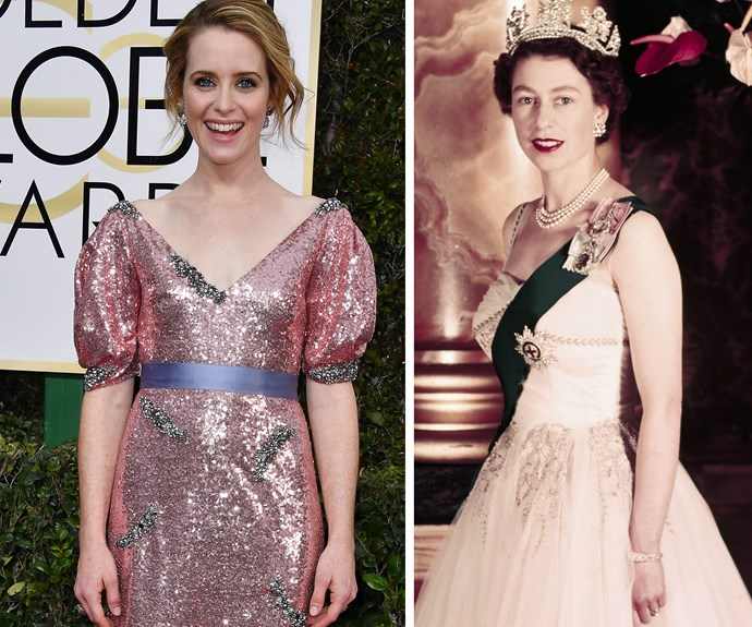 """The delightful Claire Foy thanked the Queen in her speech for winning Best Actress in a Drama. Having portrayed the royal in *The Crown*, the 32-year-old shared this sweet tribute to her Majesty, """"She has been at the centre of the world, I think we could do with a few more women in the centre. And finally another extraordinary woman in the making, my girl."""" **Watch her full speech in the next slide!**"""