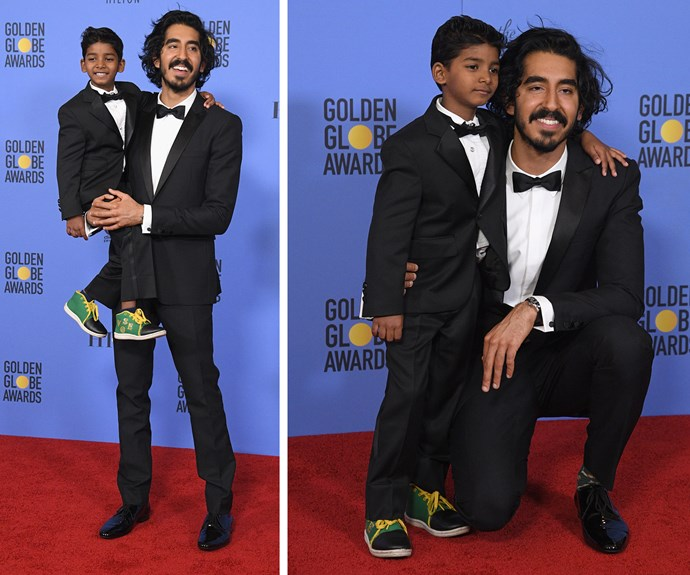 Dev Patel with his co-star and fellow *Lion* cutie Sunny Pawar.