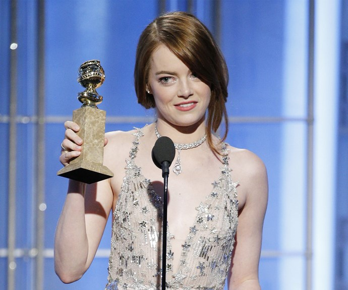 Ryan's *La La Land* co-star Emma Stone won Best Actress in a Motion Picture - Musical or Comedy, helping bring the film's total to a record-breaking seven wins altogether.