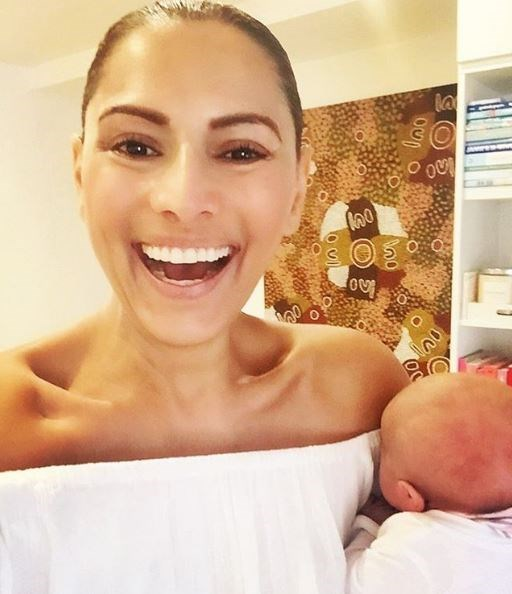 """Sally Obermeder sure hasn't forgotten her baby-calming ways! The mother-of-two sharing a short video of herself swaying with newborn Elyssa, who snuggled in for the ride. """"Sway 〰〰〰〰〰〰"""", Sally captioned the vid. Post continues..."""