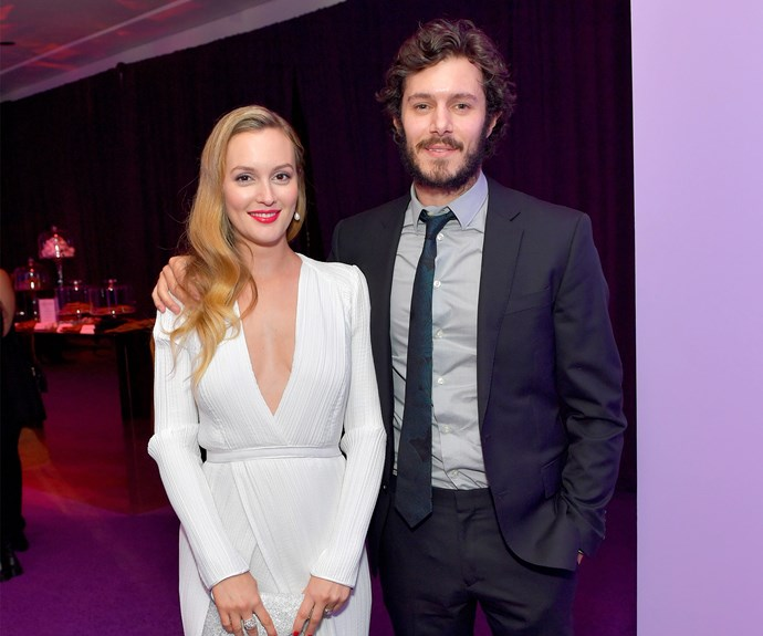 Brad Pitt wasn't the only one making a surprise appearance - super secretive couple Leighton Meester and Adam Brody also made a rare outing together. The pair, who have been married for three years and share daughter Arlo together, looked more in love then ever at the *InStyle* and Warner Bros do.