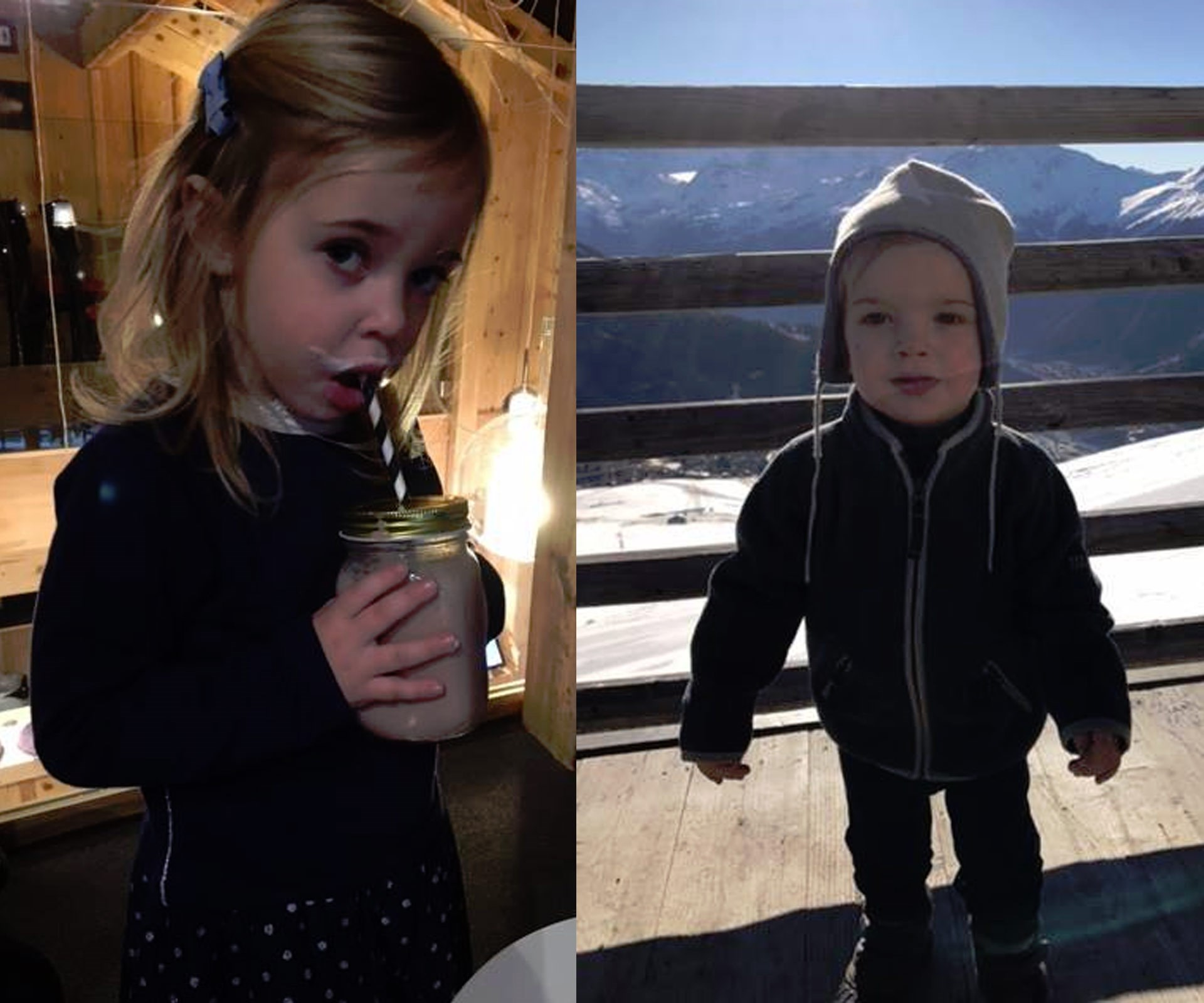 """""""A very Happy New Year to all of you from Leonore & Nicolas!"""" she penned alongside the photos on her Facebook page."""