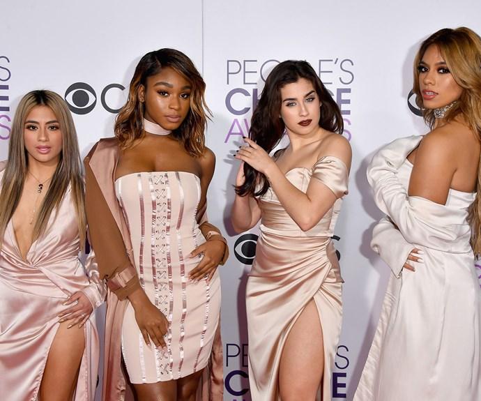 Fifth Harmony's red carpet as a quartet.