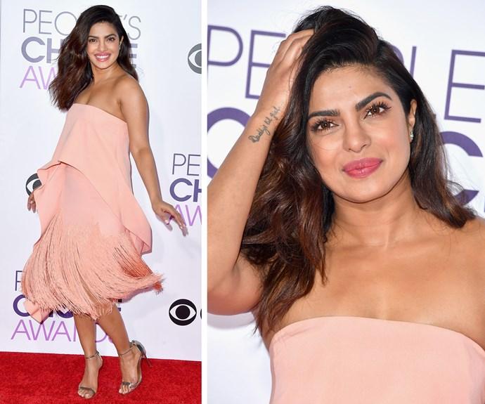 Pretty in pink Priyanka Chopra.