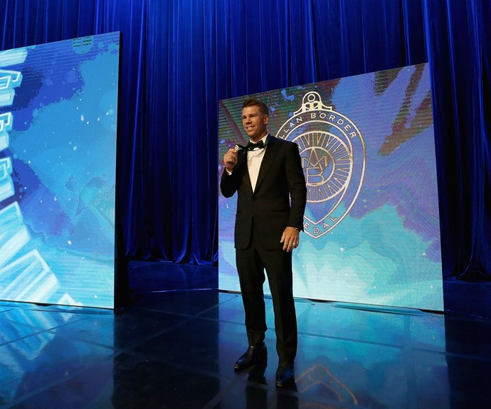 For the second year running, David Warner takes home the prestigious Allan Border Medal.