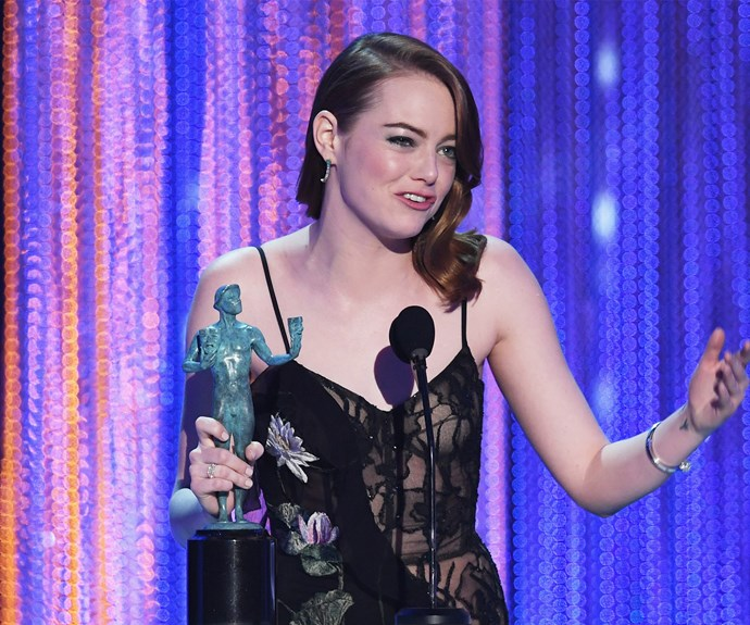 Emma Stone has won a Golden Globe *and* a SAG - so will she win the Oscar next month?