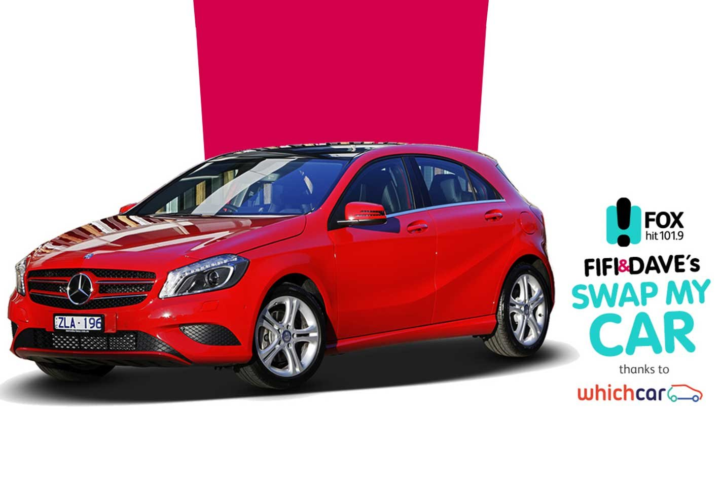 Win a mercedes benz a180 with fifi and dave for Win a mercedes benz