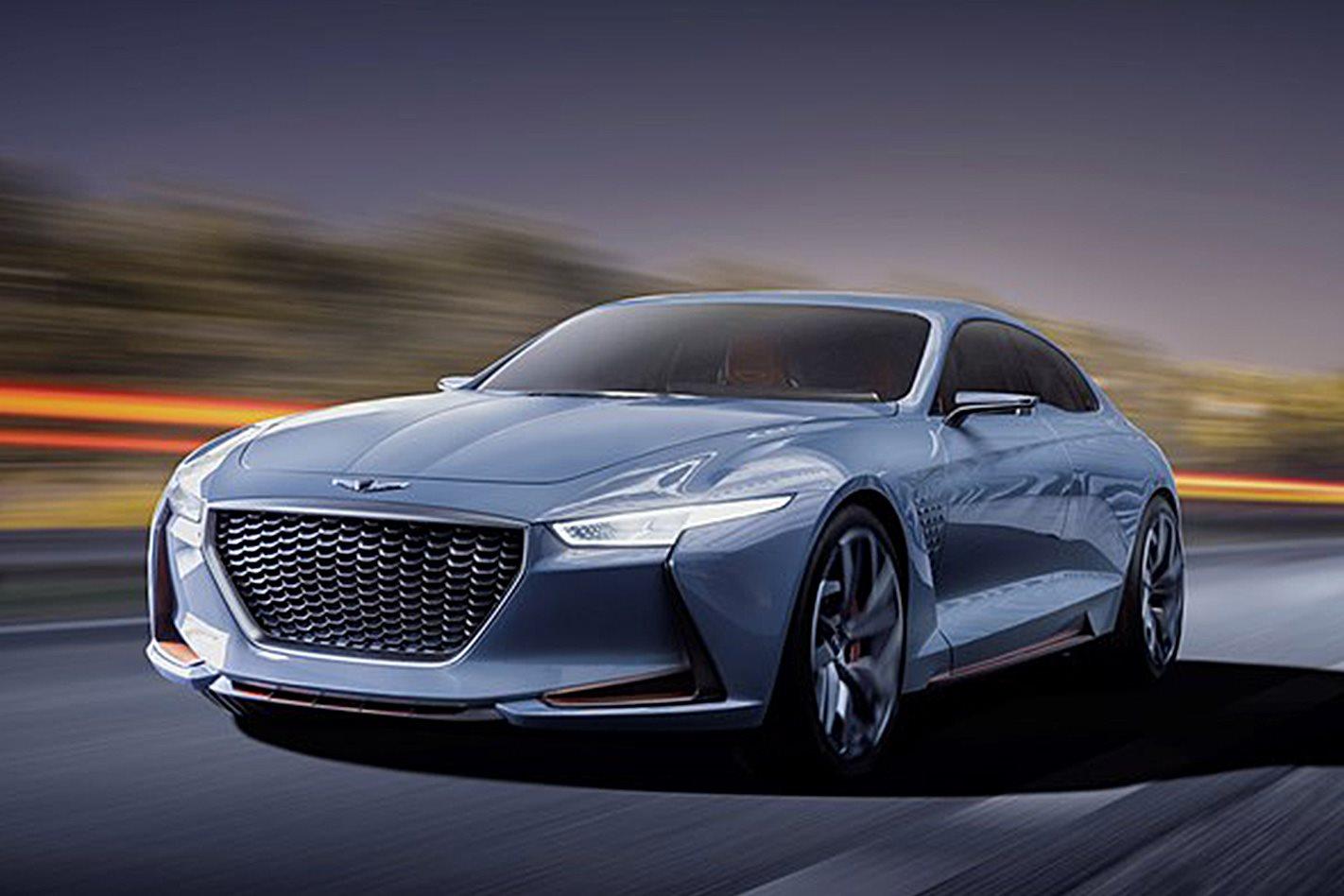 Unique New York Auto Show Genesis G70 Concept Shows Its Face
