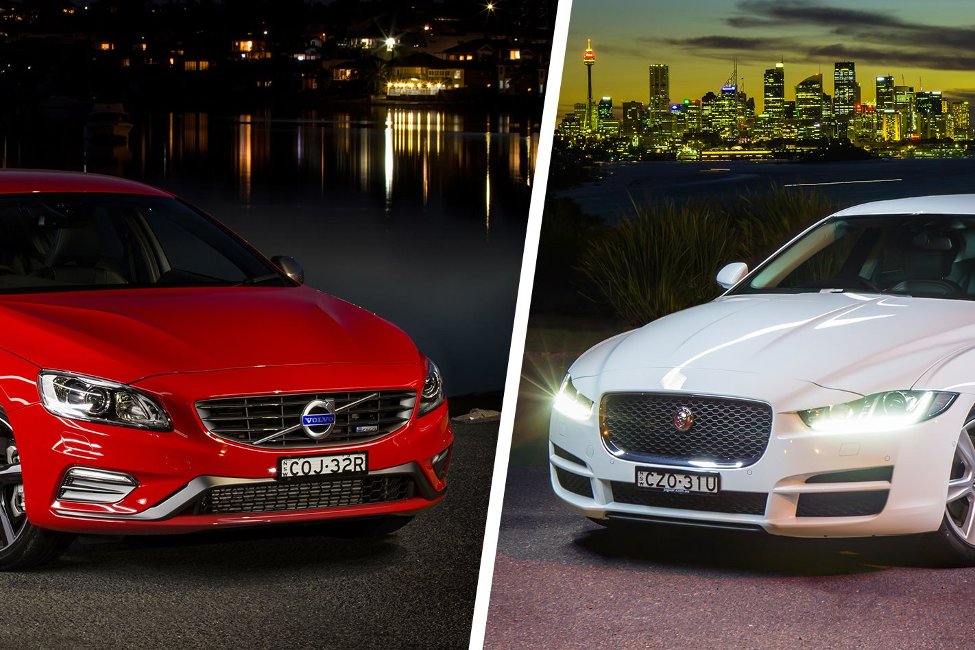 jaguar xe v volvo s60 comparison review. Black Bedroom Furniture Sets. Home Design Ideas