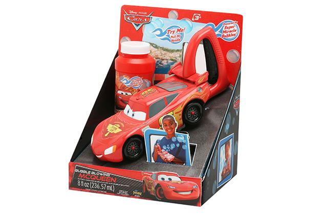 ***Cars Bubble Maker $20 available at Target*** (3yrs+)  Bubbles make bath time fun! Pour the no sting solution into the bubble blower and watch Lightning McQueen make streams of magical bubbles that will enchant your children while they get squeaky clean.