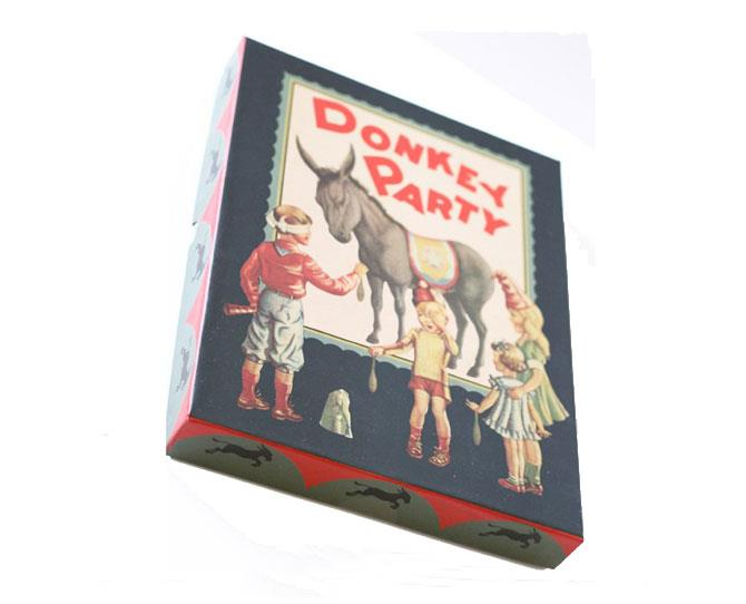 UNDER $10  This beautifully boxed vintage Pin the Tail on the Donkey game is perfect for your little one's next birthday party, $9.95 from childrensdept.com.au