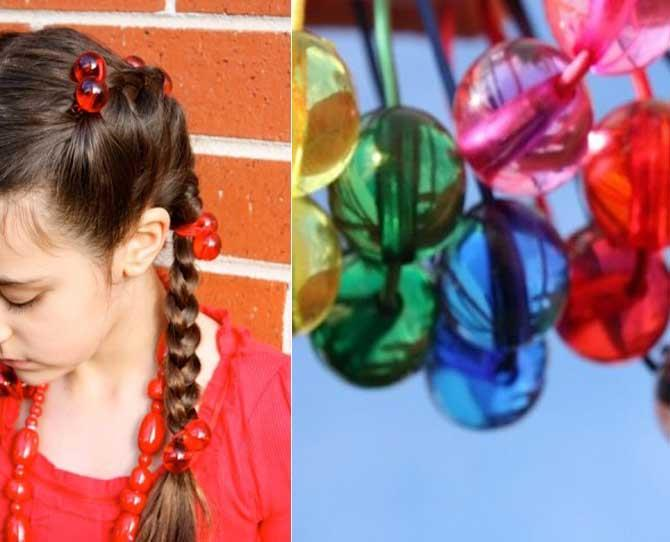 UNDER $10  Remember Hair Bobbles? Well now it's time to introduce a new generation of little girls to these awesome coloured hair balls (not the cat kind) and bring back old school style, $3.95, from Lark.