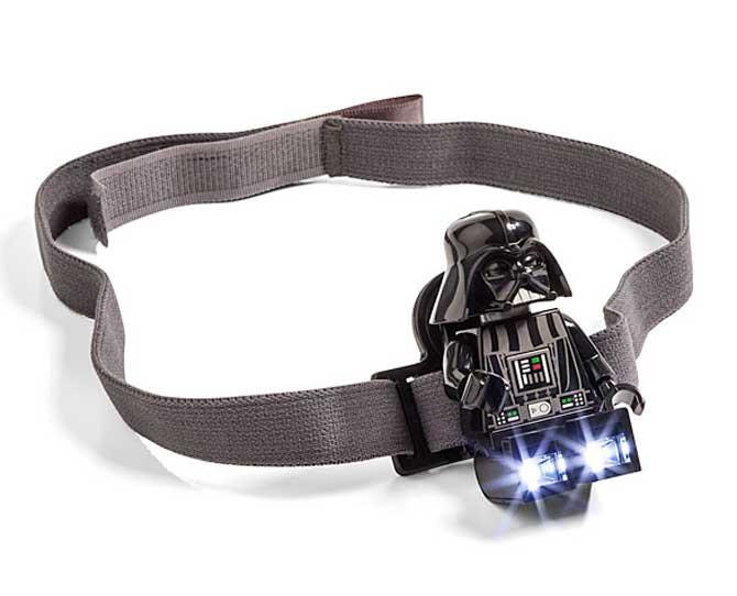UNDER $25  Who says the Dark Side can't be filled with light? Just the ticket for those night time adventures or lego-building sessions, a Lego Star Wars Darth Vader Head Lamp, $18.99, from thinkgeek.com