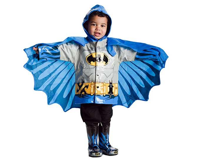 UNDER $50  When it's cloudy with a chance of bad guys, it's time to slip into your Superhero Raincoat, $49.99 from thinkgeek.com. It's made of rubber and lined with cotton so it's comfy and easy to wash off after a day of grime-fighting.