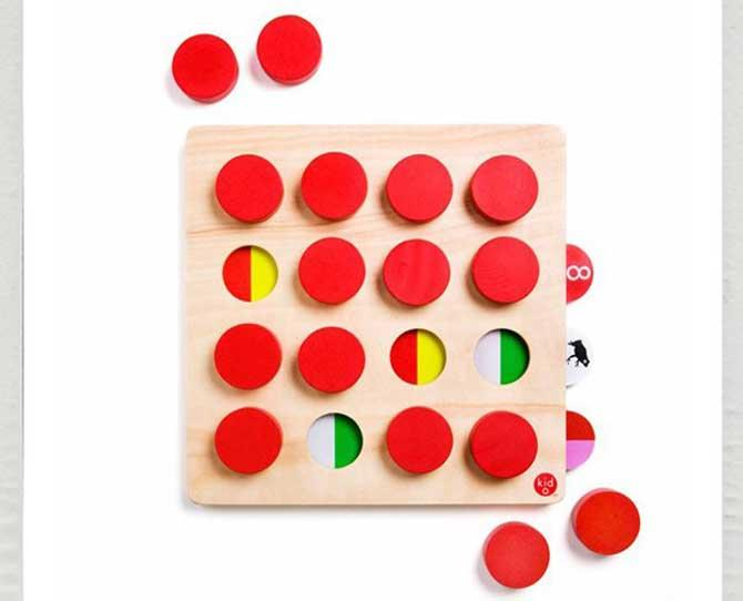 UNDER $50  A good board-style, turn-taking game that promotes memorisation, observation and colour and pattern matching. The Kid O Memory Match 16 is eight different games in one, $49.95, from kidostore.com.au
