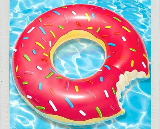 OVER $50  Not only does it look good enough to eat, this Giant Inflatable Donut Pool Float, $45.95 by Big Mouth Toys, will make any pool party or day in the sun so much sweeter. What's no to love?