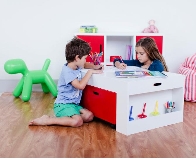 OVER $50  The Mocka Activity Table, $119.95, is a great place for kids to create and spread out without having to pack it all away for dinner. It comes with side storage slots down each side for all the bits and bobs, plus pull-out drawers for bigger items.