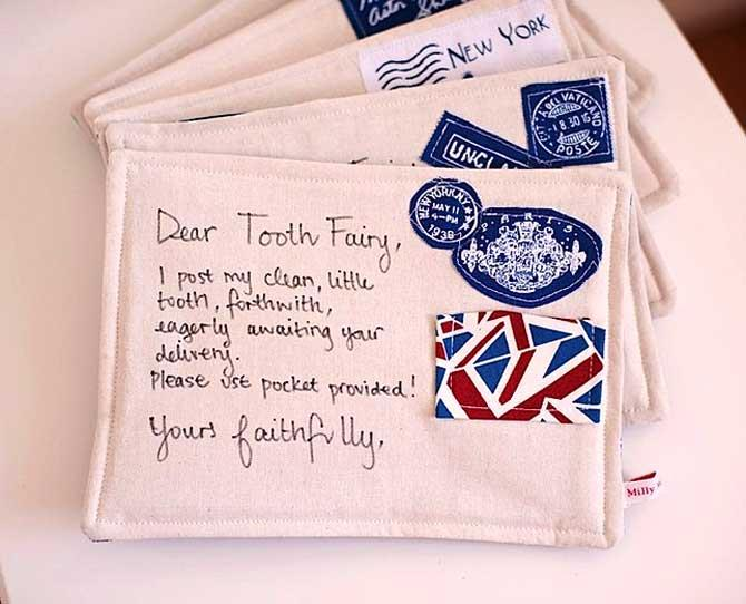 UNDER $25  A handmade Tooth Fairy Pocket Pillow, $14.95, from nic-nac.com.au are a beautiful keepsake for your child to be used each time they lose a tooth. There is also a 'Letter to Santa' pocket pillow!