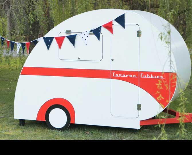 OVER $50  Here's one for the super-lucky little ones in your life. These oh-so-awesome vintage caravan replicas for kids. The junior dream house on wheels comes flat-packed (see, there's fun for parents too!) and prices start at $1995. See Caravan Cubbies to order your mini-van.