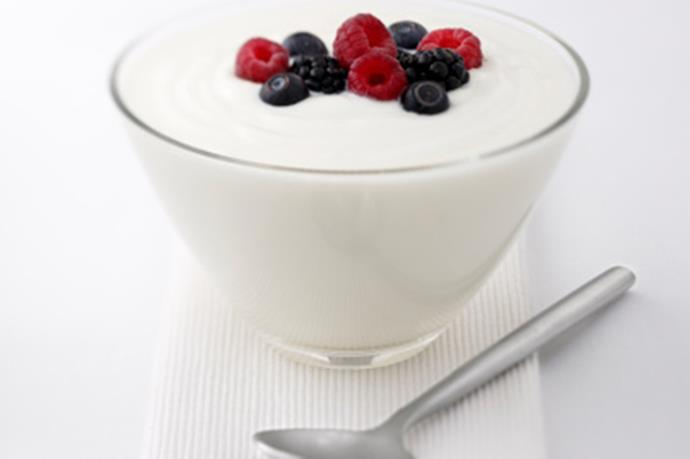 **Dairy** <br><br> Research suggests calcium is directly related to melatonin production. In fact, calcium levels are highest in the body when we're experiencing our deepest sleep – REM. Get a fix with low-fat yoghurt, cheese and milk. (For a dairy sensitivity, leafy greens are a good alternative.)
