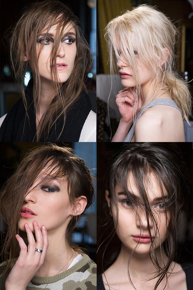 <strong>Come-as-you-are hair</strong><br> Crank up the Nirvana and get head banging to achieve this grungy-glam It-girl hair. <br> <em>Runway: Julien Macdonald</em>