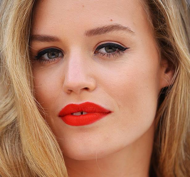 Georgia May Jagger red lips