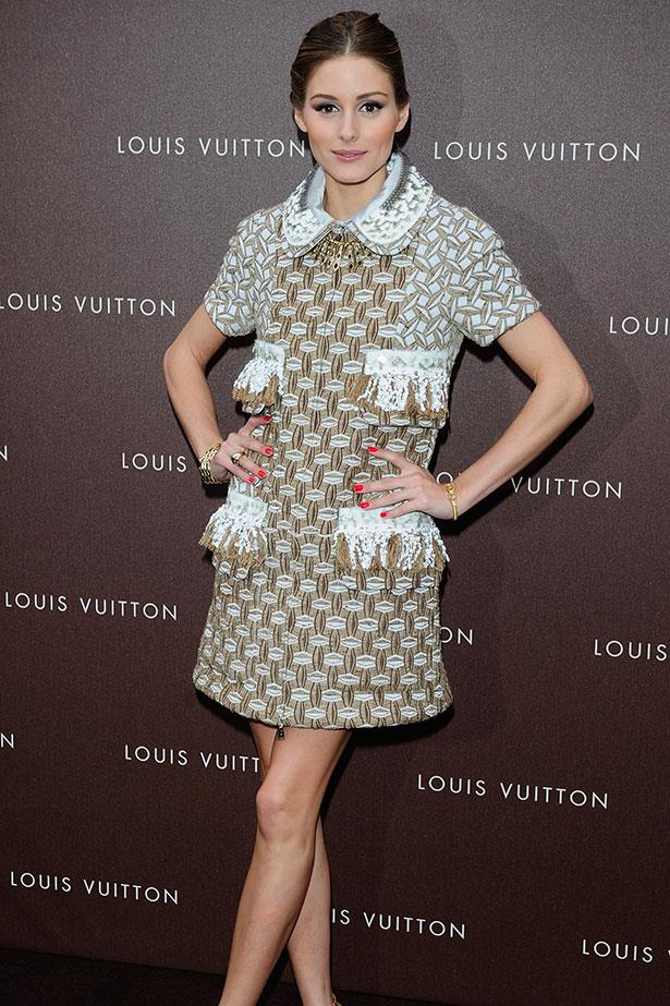The poster girl for ladylike fashion stepped out in a Louis Vuitton collared dress at the luxury label's maison opening in Munich.