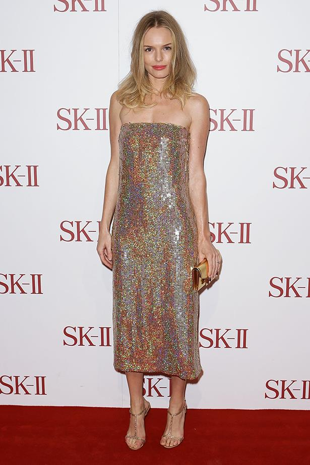 We didn't need this Stella McCartney number and those gilded accessories to remind us Kate is fashion's golden girl, but they don't hurt.