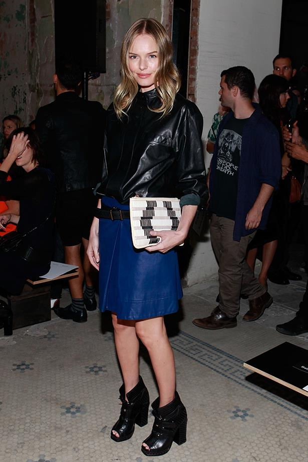 Pulling off an all-leather look ain't a mean feat, but Bossy does it with aplomb in Proenza Schouler.