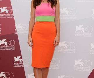 Sandra Bullock wows in Alex Perry