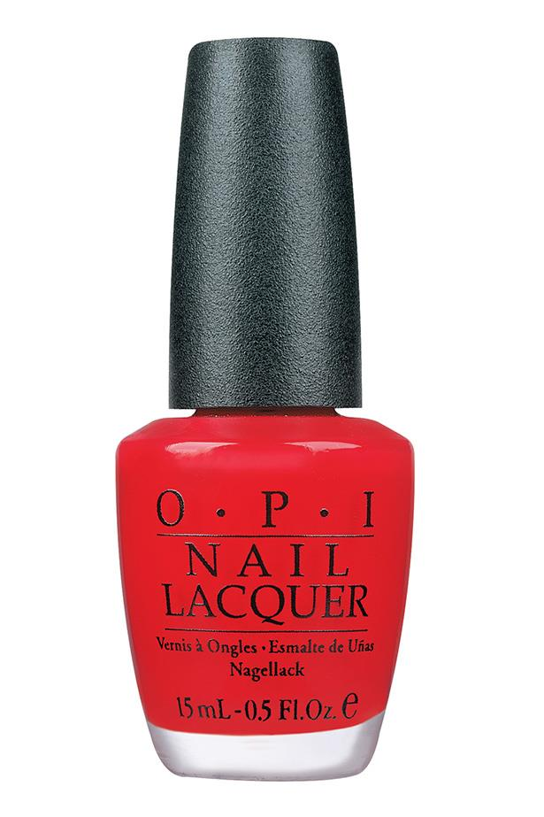 """<p><strong>Janna Johnson O'Toole, beauty and fitness director</strong></p> <p>""""It's a classic red—not too orange, not too pink. It's the perfect pedicure colour all year round.""""</p> <p><em>Nail polish in Big Apple Red, $19.95, [OPI](https://www.opi.com/nail-products/nail-polish/big-apple-red#S7PklfD45cu4IbeP.97 target=""""_blank"""" rel=""""nofollow"""").</a></em></p>"""