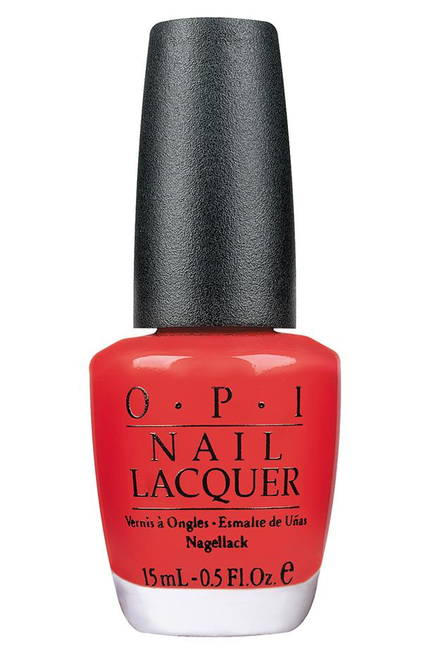 """<p><strong>Amy Starr, beauty and lifestyle associate</strong></p> <p>""""I've worn this for years and years—it's a vibrant, attention-grabby type bright red that just makes me happy when I look at it.""""</p> <p><em>Nail Lacquer in Cajun Shrimp, $19.95, [OPI](https://www.opi.com/nail-products/nail-polish/cajun-shrimp#vIB1eVyK4xUSZlSh.97 target=""""_blank"""" rel=""""nofollow"""").</em></p>"""