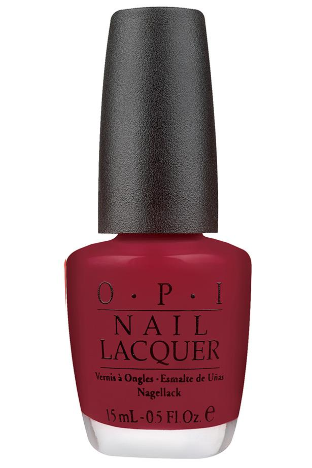 """<p><strong>Vanessa Lawrence, features writer</strong></p> <p>""""It's the perfect balance between a true red and a dark colour.""""</p> <p><em>Nail Lacquer in Got The Blues For Red, $19.95, [OPI](https://www.opi.com/nail-products/nail-polish/got-blues-red target=""""_blank"""" rel=""""nofollow"""").</em></p>"""