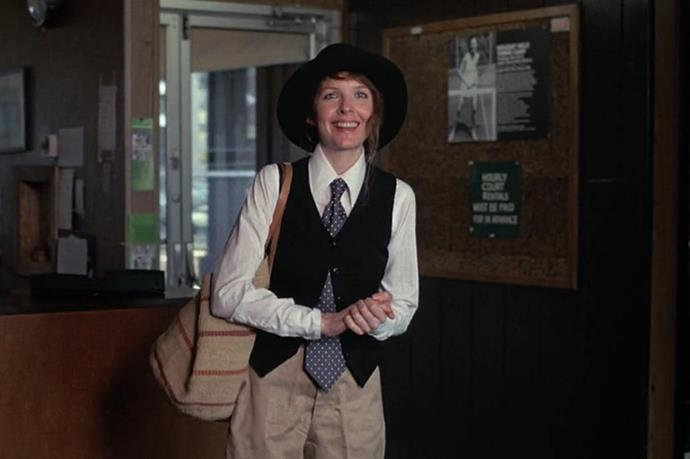 "Annie Hall, <em>Annie Hall</em>: Along with Patti Smith, Annie Hall probably stands as the thinking woman's ultimate fashion icon. When stylists questioned what Diane Keaton was doing with her idiosyncratic character's wardrobe, Allen told them to leave her alone, on the grounds that ""she's a genius"". He was right, and the three-dimensional fascinating woman Allen and Keaton together crafted is testament to their own creative mastery."