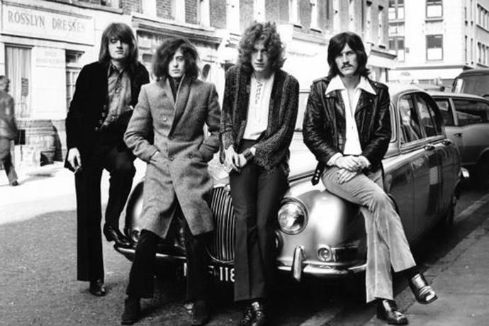 We had to blow dust off this photo of English rockers Led Zeppelin, which was taken in London just before they exploded in 1968. In fact, it's the first official photo shoot John Paul Jones, Jimmy Page, Robert Plant and John Bonham ever did together, though there would be plenty more in the fan-filled years to come.