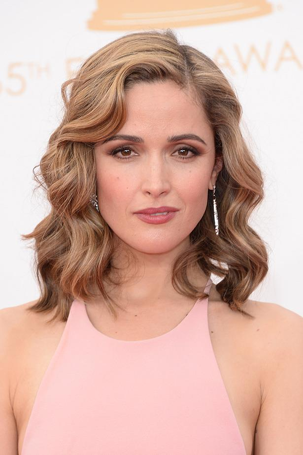 Rose Byrne wowed at the Emmys, with lightened honeycomb locks and a pink Calvin Klein Collection frock.